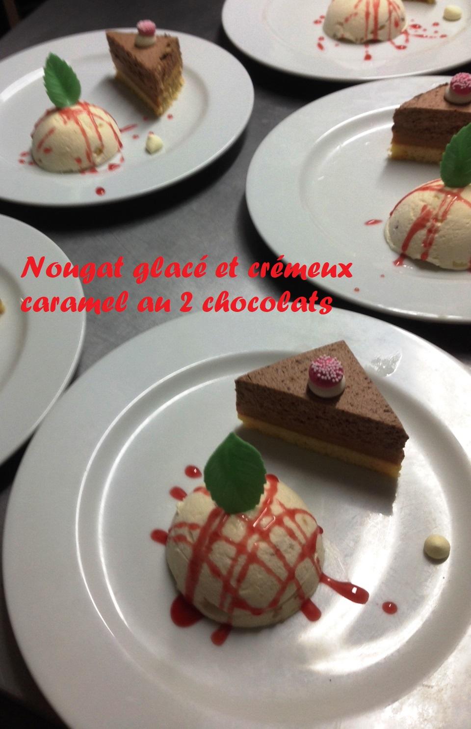 IMG_0687 cremeux caramel chocolat et nougat glacé